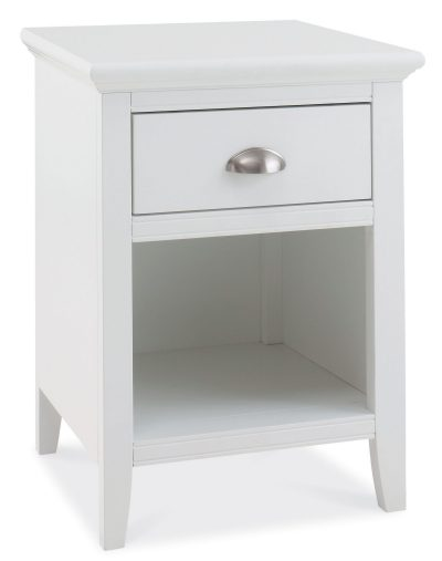 Hampstead White 1 Drawer Nightstand