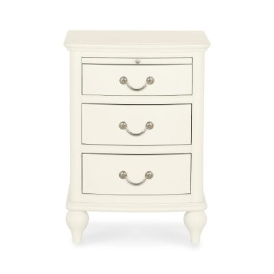 Bordeaux Ivory 3 Drawer Nightstand