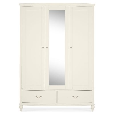 Bordeaux Ivory Triple Wardrobe