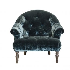 Imogen Mineral Emerald Button Chair