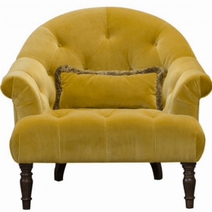 Imogen Plush Turmeric Button Chair
