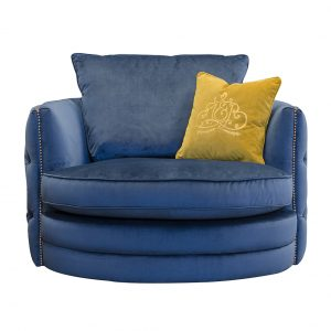 Roxy Plush Teal Twister Chair