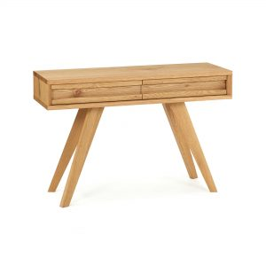 Avalon Rustic Oak Console Table With Drawer