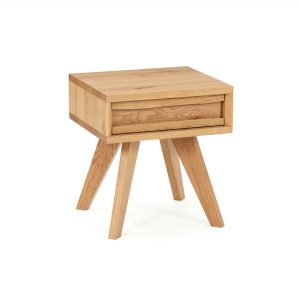 Avalon Rustic Oak Lamp Table With Drawer