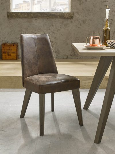 Avalon Aged and Weathered Oak Bonded Leather Chair