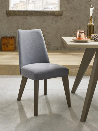 Avalon Aged and Weathered Oak Slate Blue Chair