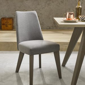 Avalon Aged and Weathered Oak Smoke Grey Chair