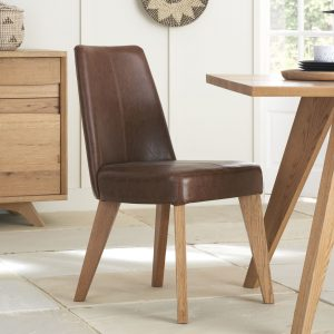 Avalon Rustic Oak Tan Chair