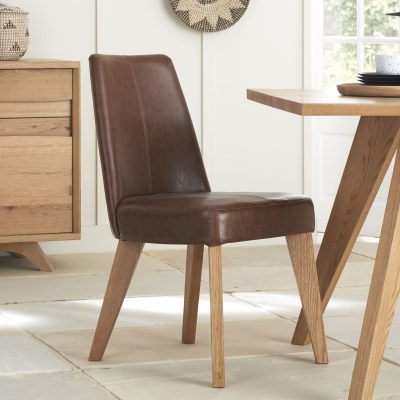 Avalon Rustic Oak Tan Chair