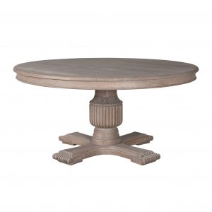 Sofia Rustic Brown 1.4m Round Dining Table