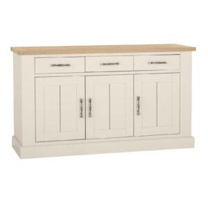 Dumaresq Aged Oak & Antique White 3 Door Sideboard