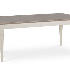 Montreux Washed Oak & Soft Grey 6-8ft Ext. Dining Table