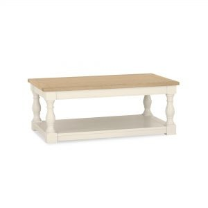 Dumaresq Aged Oak & Antique White Coffee Table
