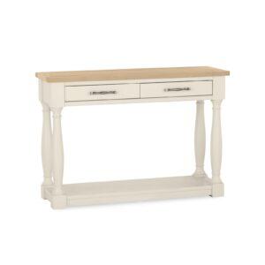 Dumaresq Aged Oak & Antique White Console Table