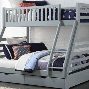 Space Triple Bunk Bed (Grey)