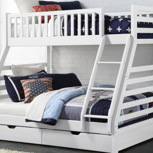 Space Triple Bunk Bed (White)