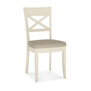Dumaresq Aged Oak & Antique White X Back Chair (Ivory)