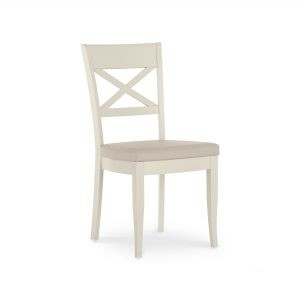 Montreux Washed Oak & Soft Grey X Back Chair (Bonded Leather)