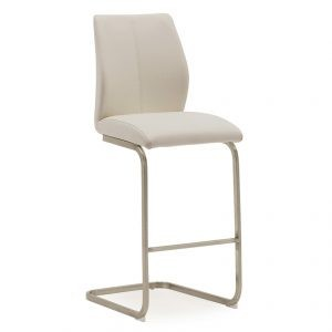 Irma Barstool Brushed Steel