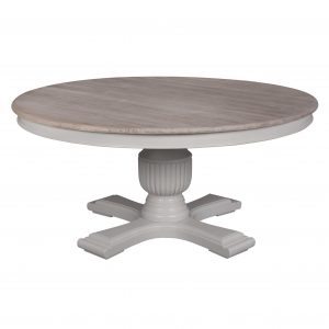 Sofia 1.6m Round Dining Table Hardwick/ Rustic Brown