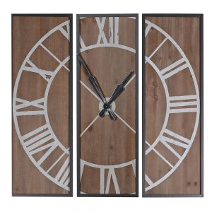 3 Piece Wood Clock