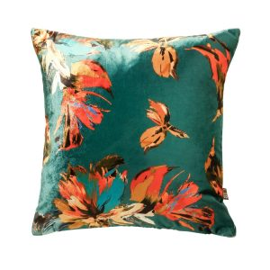 Adriana 43x43cm Teal Cushion