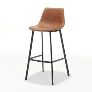 Bari Bar Stool Cognac