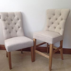 Zoe Dining Chair Beige Linen