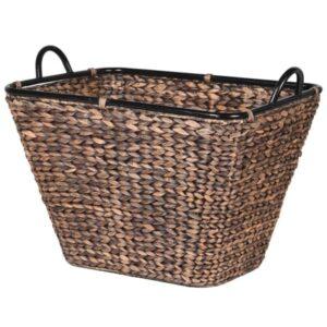 Brown Hyacinth Storage Basket