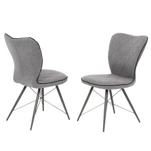 Voges Grey Fabric Dining Chair