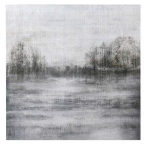Grey River Scene Oil Painting