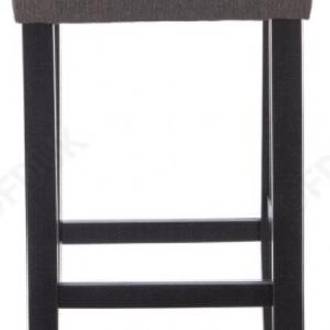 Lantana Dark Grey Fabric Black Leg Bar Stool