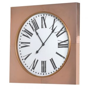 Large Copper Frame Wall Clock