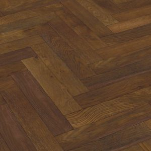 Lignum Strata 14mm - Oak Double Smoked & Brushed Herringbone 90 1.62m²