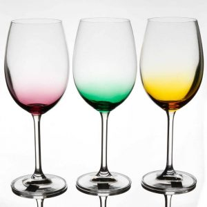 Rainbow Party Pack Set of 6 Wine Glasses 450ml