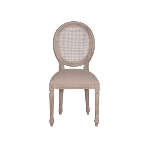 Sofia Rattan Back Dining Chair Rustic Brown