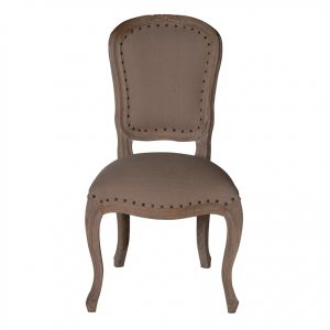 Sofia Upholstered Back Dining Chair Rustic Brown