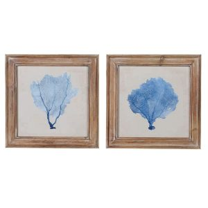 Set of Two Blue Coral Pictures
