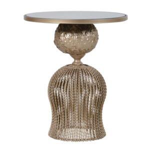 Twist Metal & Glass Round Table