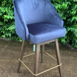 Bellini Navy Velvet Stool