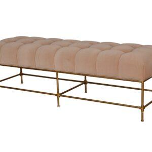 Claridge Bench Velvet Beige