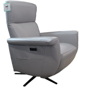 Gill Leather TV Chair Grey