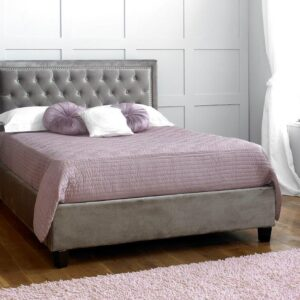Rhea Plush Silver Bed