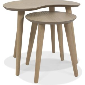 Dansk Scandi Oak Nest of Lamp Tables