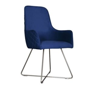 Utah Chair Plush with Pewter Legs