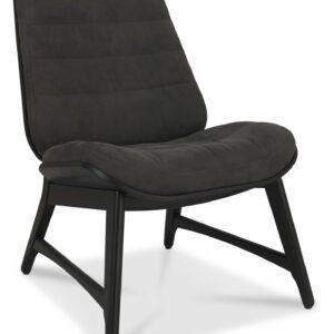 Vintage Weathered Oak + Peppercorn Casual Chair Dark Grey