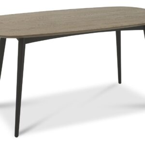 Vintage Weathered Oak + Peppercorn 6 Seater Table