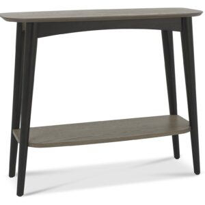 Vintage Weathered Oak + Peppercorn Console Table