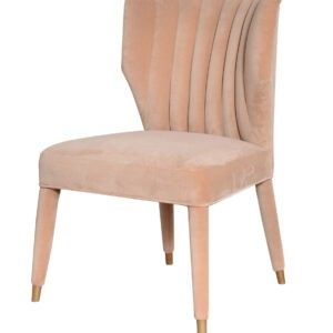 Claridge Upholstered Dining Chair Velvet Beige